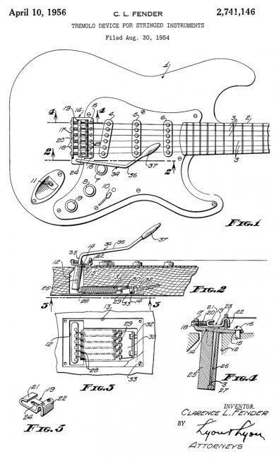 Fender Strat vibrato patent