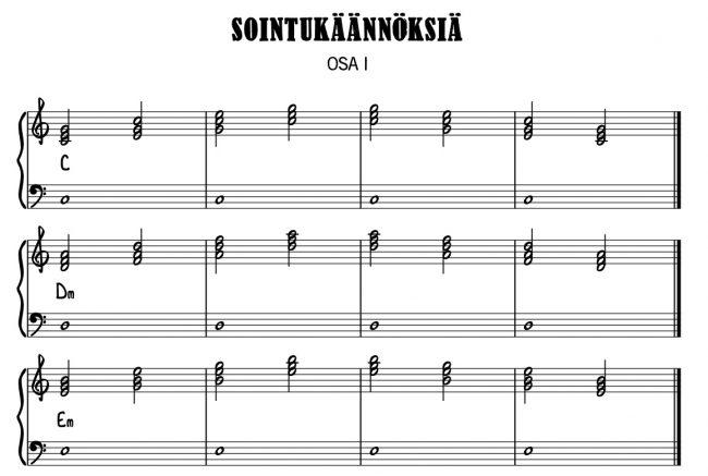 Sointukäännöksiä pianolla