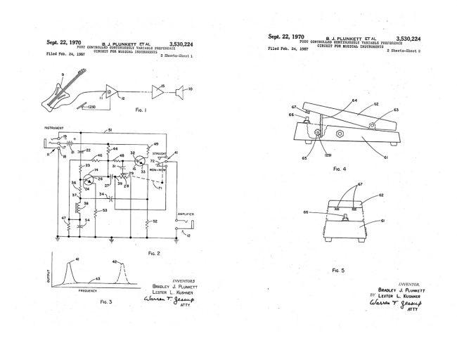 Wah pedal patent